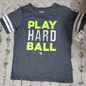 "Oshkosh ""Play Hard Ball"" tee"
